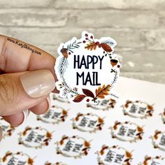 Excited to share this item from my #etsy shop: Happy Mail Fall Stickers, Fall Diecut Stickers, Leaf Fall, Package Stickers, Box Stickers, Etsy Stickers, Fall 2019 Stickers Packaging Stickers, Packaging Ideas, Business Stickers, Thank You Stickers, Personalized Stickers, Happy Mail, Aesthetic Stickers, Custom Labels, Transparent Stickers