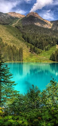 Emerald Lake, Yoho, British_Columbia, Canada Hike, canoe and stay in cabins. Nature therapy