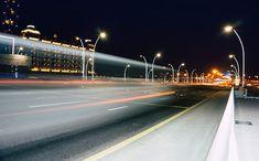 Royalty free photo: Street Lights during Nighttime, asphalt, blur, buildings, city, city lights, dark, downtown City Road, City Streets, Royalty Free Photos, Free Stock Photos, Driveway Lighting, Light Trails, Photo Dimensions, City Lights, Street Lights