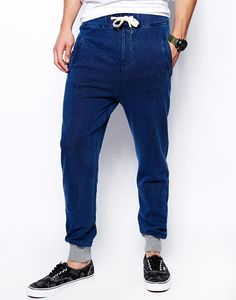 Native Youth Indigo Sweatpants With Contrast Cuff http://picvpic.com/men-pants-casual/native-youth-indigo-sweatpants-with-contrast-cuff#blue