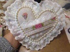 Stunning Handmade Shabby Chic Heart - SOLD