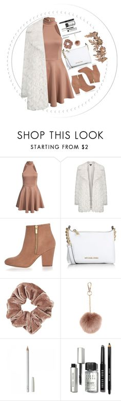 """""""little brown"""" by jfgs ❤ liked on Polyvore featuring Topshop, River Island, Michael Kors, Accessorize, Bobbi Brown Cosmetics, women's clothing, women, female, woman and misses"""