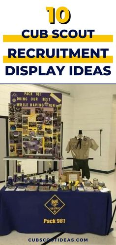 When you're recruiting new Cub Scouts, you may have the opportunity to have a display board or table where you can share what Cub Scouting is all about. Show off your Cub Scouts' projects and activities at your Cub Scout recruitment night (aka round up) booth. Set up your display for your Blue and Gold Banquet or at a pack meeting. #CubScouts #CubScout #Scouting #Webelos #ArrowOfLight #CubScoutRecruiting #CubScoutRecruitment #BeAScout Cub Scout Activities, Fun Activities, Arrow Of Lights, Pack Meeting, For You Blue, Cub Scouts, Scouting, Banquet, Cubs