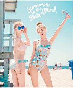 Colorful swimsuit Korean Fashion Online Shopping Website | Korean Clothing