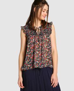 Blusa de mujer Only con estampado floral y volantes · Only · Moda · El Corte Inglés