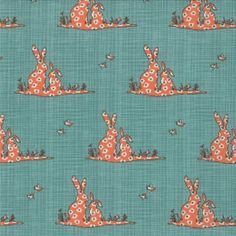 Collection : Bluebird Park Designer : Kate & Birdie Manufacturer : Moda Width : wide Content : Cotton Fabric is priced per metre. Minimum cut is metres. Orders for metres will be cut as a fat quarter unless otherwise. Little Bunny Foo Foo, Year Of The Rabbit, Coral Fabric, Cotton Fabric, Orange And Turquoise, Teal, Textiles, Bunny Plush, Pretty Patterns