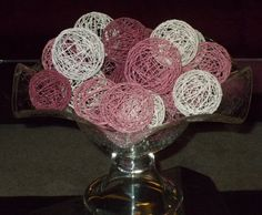 Homemade decorative balls! I love these!