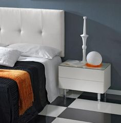 Chanelle Elegance White High Gloss Bedside Cabinet Bedroom
