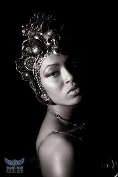 Persephone #headdress, photo by Tempus Fugit Design