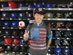 【新宿1号店】2014.05.18 野球好きのお客様に来店頂きました。埼玉から当店まで1時間かけて自転車でお越し頂きました。また、遊びに来てくださいね~☆