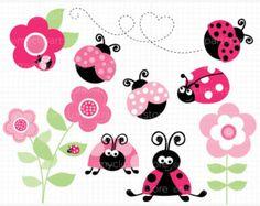 Mariposas Vectores en stock y Arte vectorial 3d Wall Decals, Vinyl Decals, Colorful Flowers, Spring Flowers, Ladybug Garden, Pink Ladybug, En Stock, Cartoon Design, Flower Wall