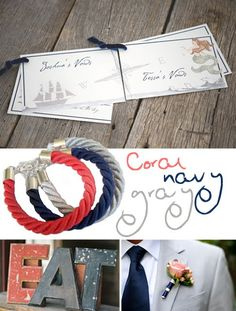 Nicole Rene Design {weddings, events, home decor, fashion & more}: Wedding #24: Coral, Navy & Gray