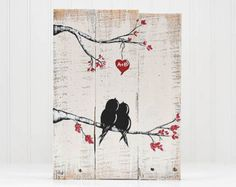 You and Me Sign Wood Signs Reclaimed Wood by LindaFehlenGallery