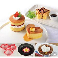 ふんわりホットケーキ型3種組 通販 【ニッセン】 キッチン用品・調理器具 お弁当グッズ・水筒・おやつ作り お弁当作り・おやつ作りツール