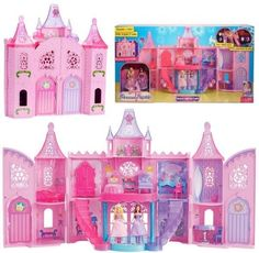 BARBIE THE PRINCESS POPSTAR LIGHT UP MUSICAL CASTLE DOLL HOUSE PLAYSET XMAS GIFT