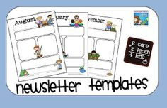 reflections of an early childhood teacher: New Newsletter Templates