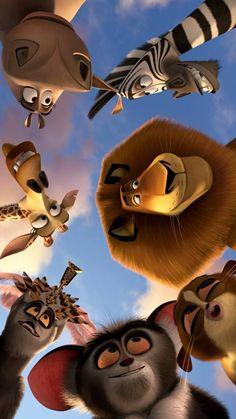 Disney Phone Wallpaper, Cartoon Wallpaper Iphone, Whats Wallpaper, Galaxy Wallpaper, Images Disney, Disney Art, Movie Wallpapers, Cute Cartoon Wallpapers, Madagascar Movie