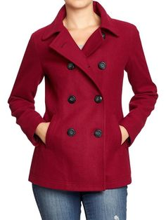 Women's Classic Wool-Blend Peacoats   Old Navy. I want this coat!