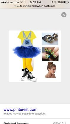 Cute minion Halloween costume! Minion Halloween Costumes, Cute Minions