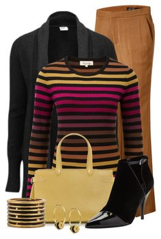 """""""Colorful Striped Top"""" by cathy0402 ❤ liked on Polyvore featuring Theyskens' Theory, Vero Moda, Viyella, Asprey, 3.1 Phillip Lim, Marni and Kenneth Cole"""