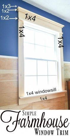 Home Decorating DIY Projects: I was surprised that this DIY farmhouse window trim actually seems easy to do! Home Decorating DIY Projects : I was surprised that this DIY farmhouse window trim actually seems easy to do! Farmhouse Trim, Farmhouse Windows, Farmhouse Decor, Farmhouse Interior Doors, Farmhouse Bench, Farmhouse Lighting, Farmhouse Ideas, Home Upgrades, Home Improvement Projects