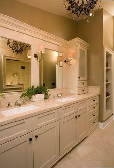 Traditional bathroom design ideas: undermount bathroom sink design ideas we Bathroom Sink Design, Undermount Bathroom Sink, Bathroom Renos, Bath Design, Bathroom Ideas, Bathroom Mirrors, White Bathroom, Bathroom Storage, Bathroom Cabinets