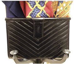 Vintage Yves Saint Laurent black clutch www.hedyjp.com 88e35c6f33f9c