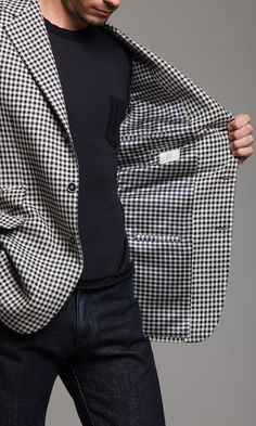 Line because you have horizontal and vertical lines in one jacket