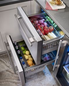 "Rhode Island kitchen with True Residential 24"" Refrigerator Drawers"
