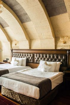 Deluxe Rooms are 376 square feet, with private balconies or terraces and valley views. Cappadocia Cave Resort and Spa - Special Class (Cappadocia, Turkey) - Jetsetter