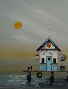 "Gary Walton acrylique ""Our Place"""