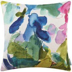 Bluebellgray Big Catrin Cushion - 45x45cm (270 PLN) ❤ liked on Polyvore featuring home, home decor, throw pillows, green, floral throw pillows, green throw pillows, floral accent pillows, green accent pillows and green toss pillows