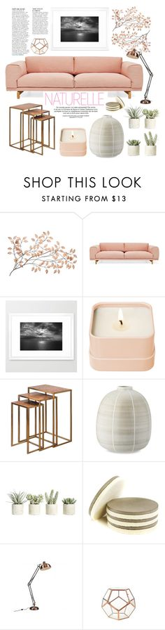 """living room"" by by-jwp ❤ liked on Polyvore featuring interior, interiors, interior design, home, home decor, interior decorating, Muuto, Henri Bendel, Uttermost and Williams-Sonoma"