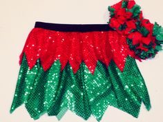 Christmas+Elf+Running+Costume+by+RockCitySkirts+on+Etsy,+$28.00