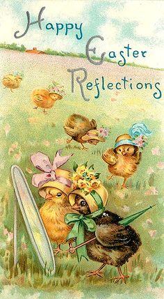 Vintage Easter cards are the best but I love Easter cards even more than Christmas cards. Vintage Easter cards are the best but I love Easter cards even more than Christmas cards. Easter Greeting Cards, Vintage Greeting Cards, Vintage Postcards, Easter Art, Easter Crafts, Easter Toys, Easter Vintage, Easter Illustration, Easter Pictures