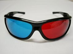 Red-blue / Cyan Anaglyph Fashion style 3D Glasses 3D movie game: http://www.amazon.com/Red-blue-Anaglyph-Fashion-3D-Glasses/dp/B003LJUXMM/?tag=eyepet-20