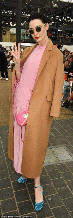 Erin O'Connor wearing Zanzan 'Sunetra' sunglasses at London Fashion Week SS17