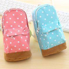 Estojo Escolar Lápis e Canetas Mochila Cute - 4 cores