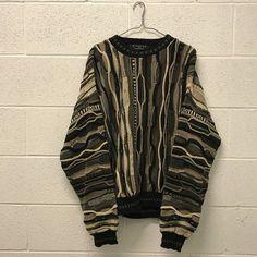 Vintage Coogi style knit sweatshirt biggie smalls
