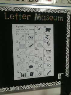 The letter museum is where the letters live. refer to it during guided reading and writers workshop a lot.