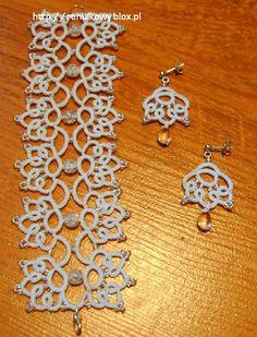 bransoletka i kolczyki do ślubnych naszyjników