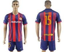 Barcelona #15 Bartra Home Soccer Club Jersey