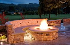 diy outdoor fireplace   Ideas Of Fire Pit: Stunning Patio Design With Round DIY Inspiring Fire ...