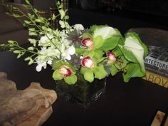 these modern white and green floral designs were created specifically ...