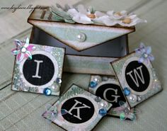 mini box with inchies, ok so inchies are adorable