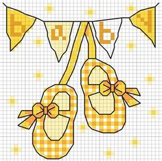 New baby free DMC cross stitch chart design.