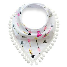 Sewing Baby - Pom Pom Trimmed Bandana Drool Bib - Comes in many patterns - Great for teething! - Soft, cozy cotton - Pom Pom Trimmed Bandana Drool Bib Comes in many patterns Great for teething! Couture Bb, Baby Boy Bibs, Bebe Baby, Dribble Bibs, Boys Accessories, Dog Accesories, Diy Stuffed Animals, Baby Sewing, Burp Cloths
