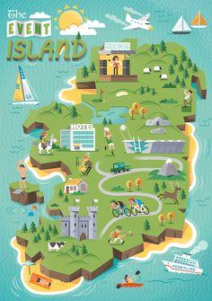 Fáilte Ireland Map on Behance