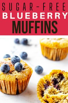These Keto Blueberry Muffins are light, tender, and so delicious. Made with almond flour, they are also filling - perfect with a cup of hot coffee for breakfast. Say goodbye to the empty calories and carb crash that comes with traditional muffins, and hello to this low carb muffin. Best Low Carb Snacks, Low Carb Desserts, Keto Snacks, Healthy Desserts, Low Carb Recipes, Snack Recipes, Free Recipes, Breakfast Recipes, Healthy Recipes