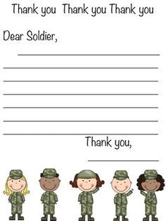 how to write a letter to a soldier google search